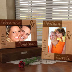 Personalized Forever You & I Wooden Picture Frame