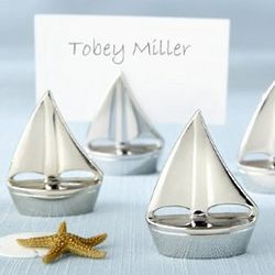 Shining Sails Silver Place Card Holders
