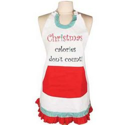 Christmas Calories Don't Count Apron