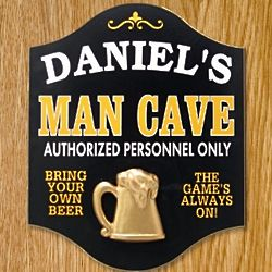 Man Cave and Beer Personalized Sign