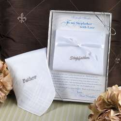 Embroidered Wedding Handkerchief for Father