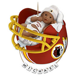 Washington Redskins African American First Christmas Ornament