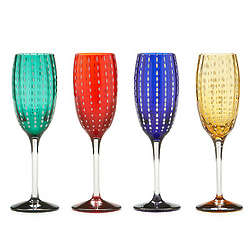 Pearl Glass Flutes Set