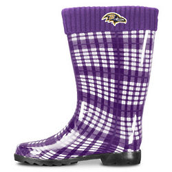 Women's Baltimore Ravens Purple Rain Boots