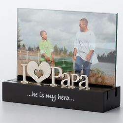 I Heart Papa Picture Frame