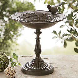 Tabletop Cast Iron Birdbath