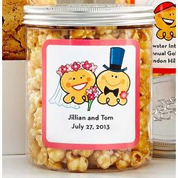 Personalized Big Day Small Canisters of Caramel Popcorn