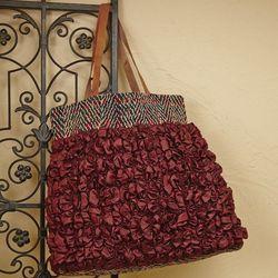 Velvet Ruched Handbag