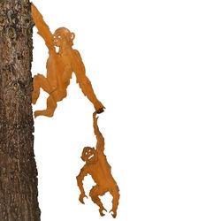 Chimps Tree Hugger Garden Decoration