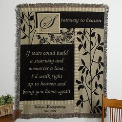 Stairway to Heaven Embroidered Memorial Afghan