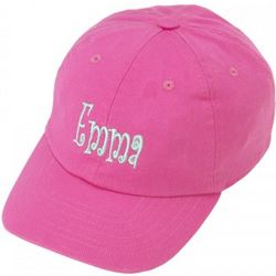 Hot Pink Embroidered Toddler Cap