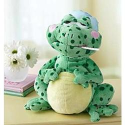 Animated Get Well Fever Frog Stuffed Animal