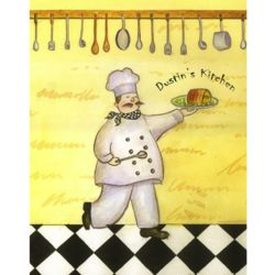 A Chef's Happy Life II Personalized Art Print