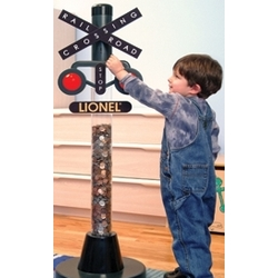 Lionel Railroad Crossing Coin Bank