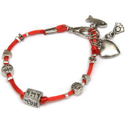 Kabbalah Bracelet with Charms