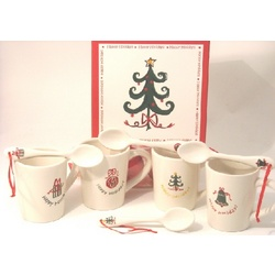 Eight Piece Holiday Mug and Spoon Set