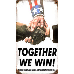 Together We Win Metal Sign