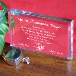 My First Communion Prayer Keepsake