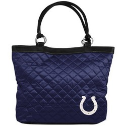 Indianapolis Colts Navy Blue Quilted Tote Bag
