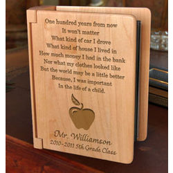 Personalized Teacher's Life of a Child Wooden Photo Album