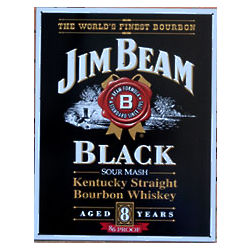 Jim Beam Black Label Metal Sign