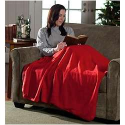 Fleece Cuddle Blanket with Foot Warmer Pouch