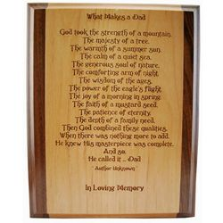 What Makes a Dad Memorial Plaque