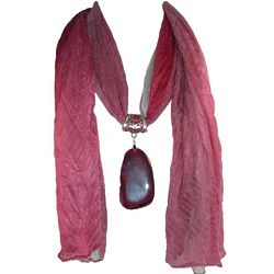Bijoux Agate Scarf Necklace