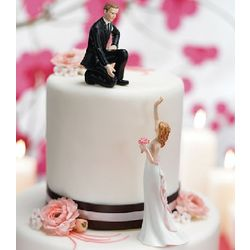 Reaching Bride Cake Topper