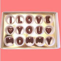 I Love You Mommy Large Alphabet Milk Chocolate Gift Box