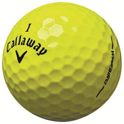 Personalized HEX Warbird Yellow Golf Balls