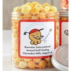 4 Personalized Cornfusion Popcorn Canisters