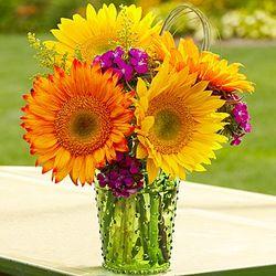 Warm Sunset Flower Bouquet