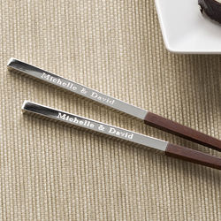 Personalized Teak Wood Chopsticks