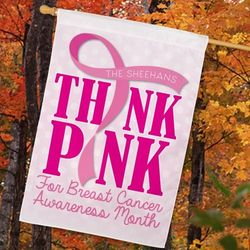 Personalized Breast Cancer Awareness All-Weather House Flag