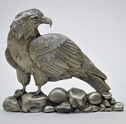 Pewter American Bald Eagle Shelf Accent
