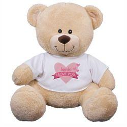 Personalized Love You Teddy Bear Stuffed Animal