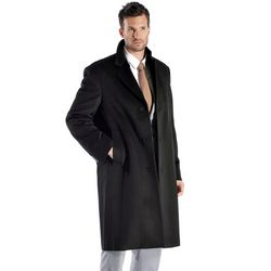Men's Knee Length Overcoat in Pure Cashmere