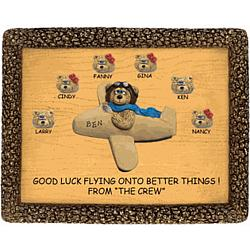 Good Luck Personalized Plaque for Airplane Pilot