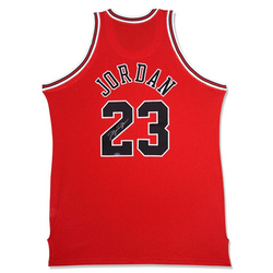Michael Jordan Chicago Bulls Autographed Away/Red Jersey