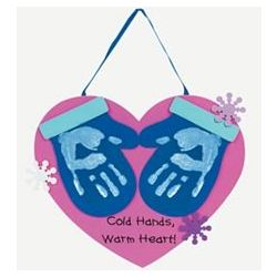Handprint Mitten Keepsake Wall Hangings Craft Kit