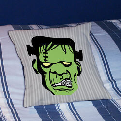 Frankenstein Personalized Halloween Throw Pillow