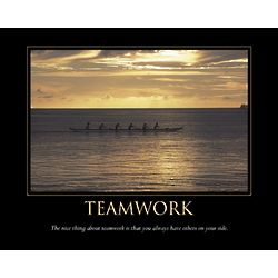 Teamwork Personalized Print