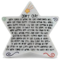 Don't Quit Star Plaque