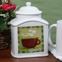Personalized Ceramic Tea Jar