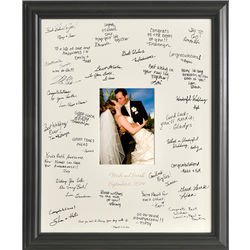 Personalized Laser Engraved Wedding Wishes Signature Frame