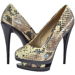 3 Beige Women Platform Pumps