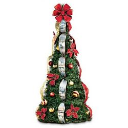 Thomas Kinkade Decorated Small Pre-Lit Pull-Up Christmas Tree