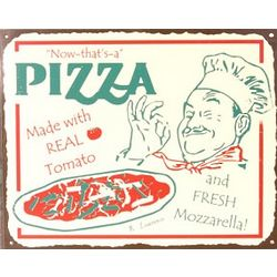 Pizza Chef Metal Sign