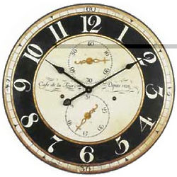 Vintage Design Round Wood Wall Clock
